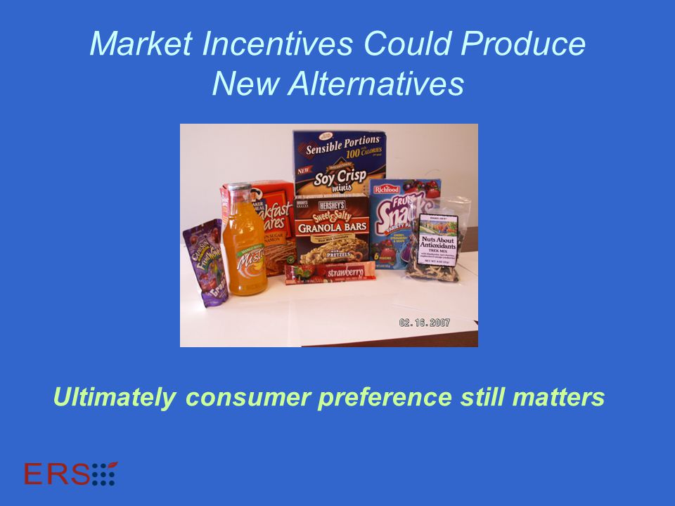 Market Incentives Could Produce New Alternatives Ultimately consumer preference still matters