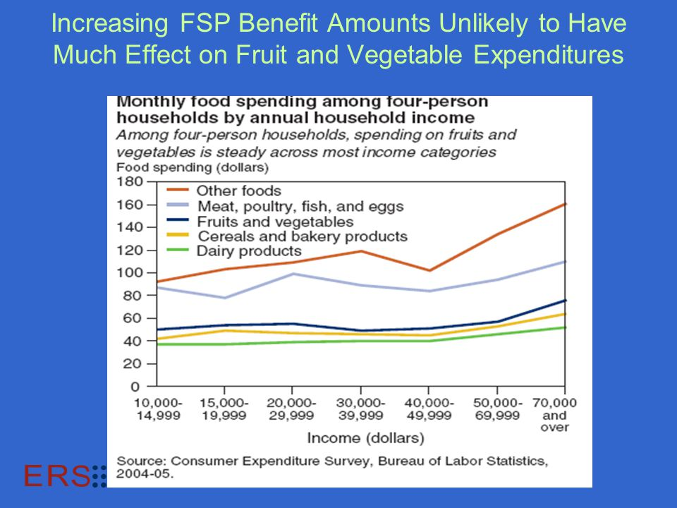 Increasing FSP Benefit Amounts Unlikely to Have Much Effect on Fruit and Vegetable Expenditures