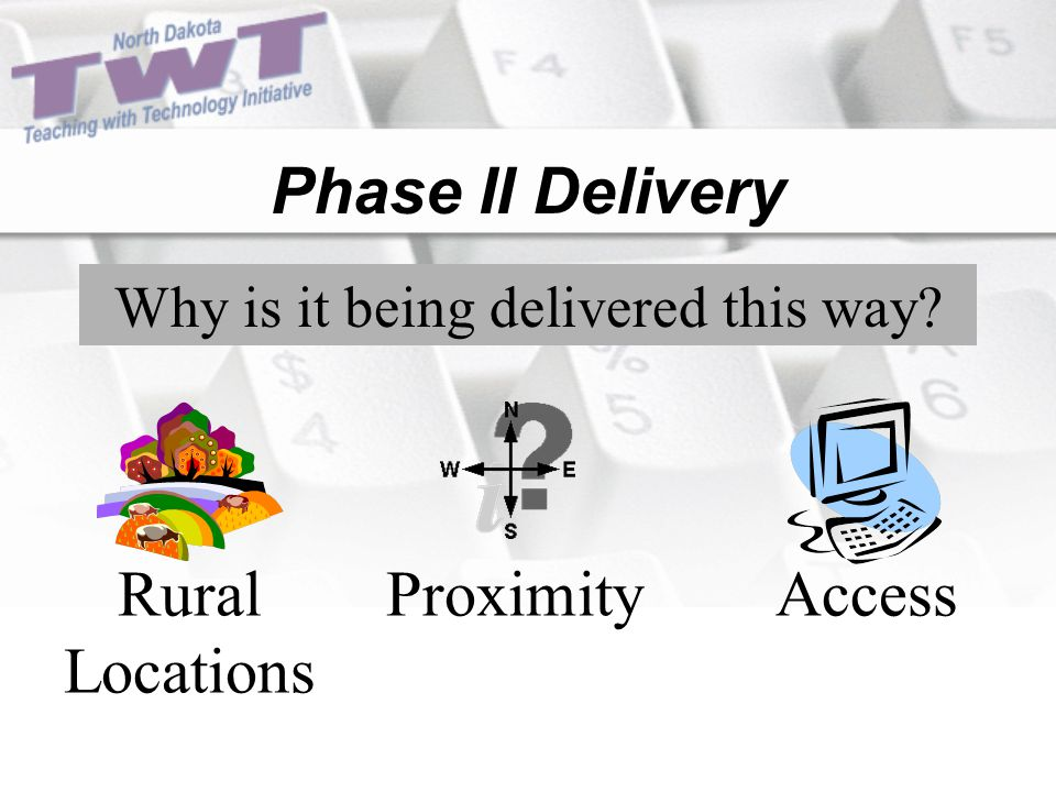 Phase II Delivery Why is it being delivered this way Rural Locations ProximityAccess