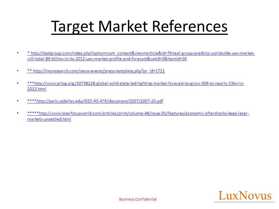 LuxNovus Light-based Technology Commercialization - ppt download