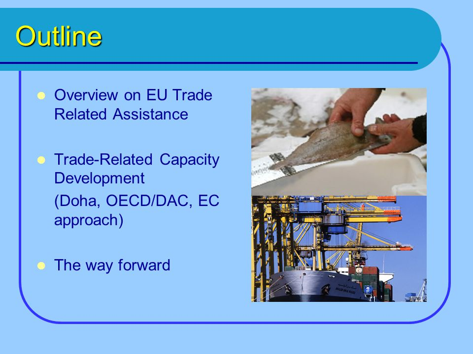 Outline Overview on EU Trade Related Assistance Trade-Related Capacity Development (Doha, OECD/DAC, EC approach) The way forward