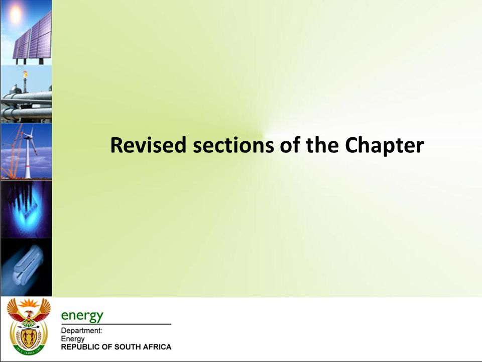 Revised sections of the Chapter