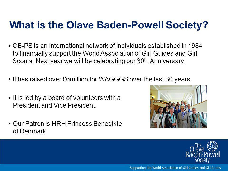 What is the Olave Baden-Powell Society.