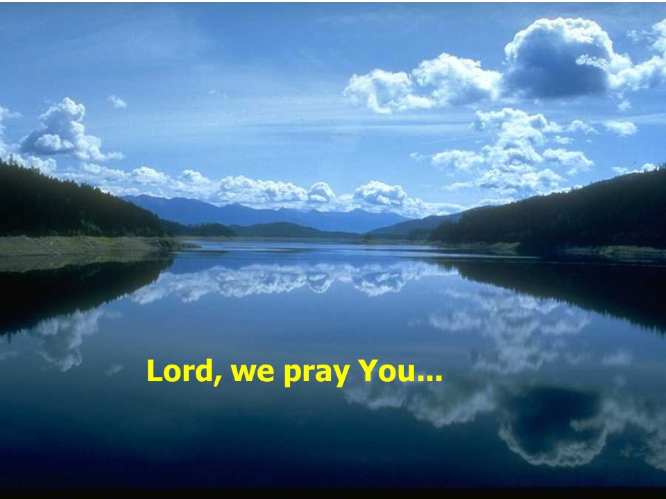 Lord, we pray You...