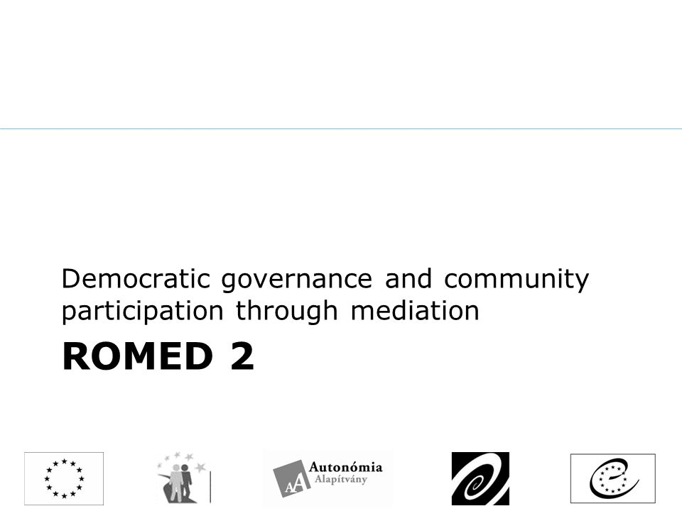 ROMED 2 Democratic governance and community participation through mediation