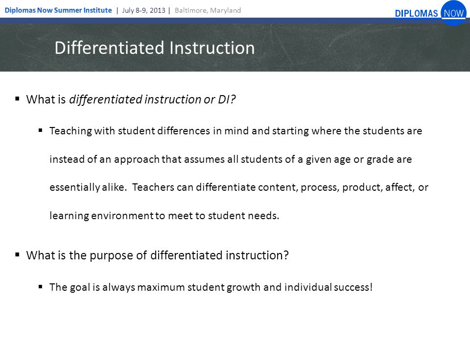 Dns Role In Differentiated Instruction Liz Looney Director Of