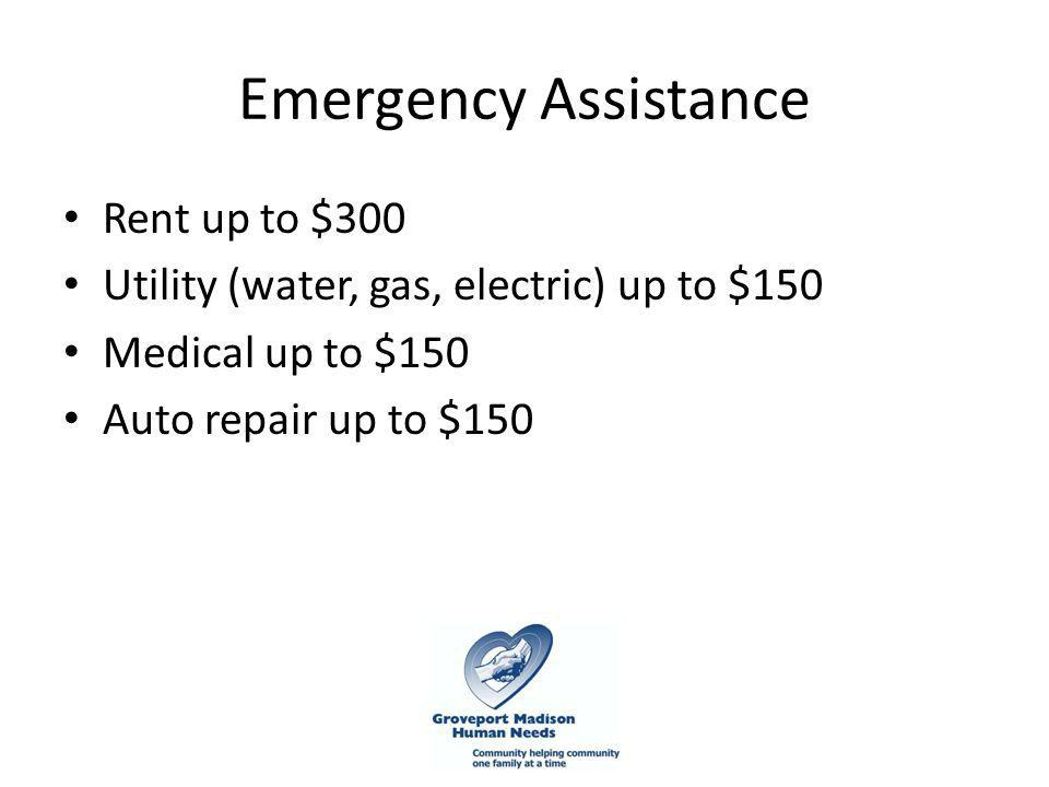 Community Summit February 8, What is CGMHN? Emergency assistance for