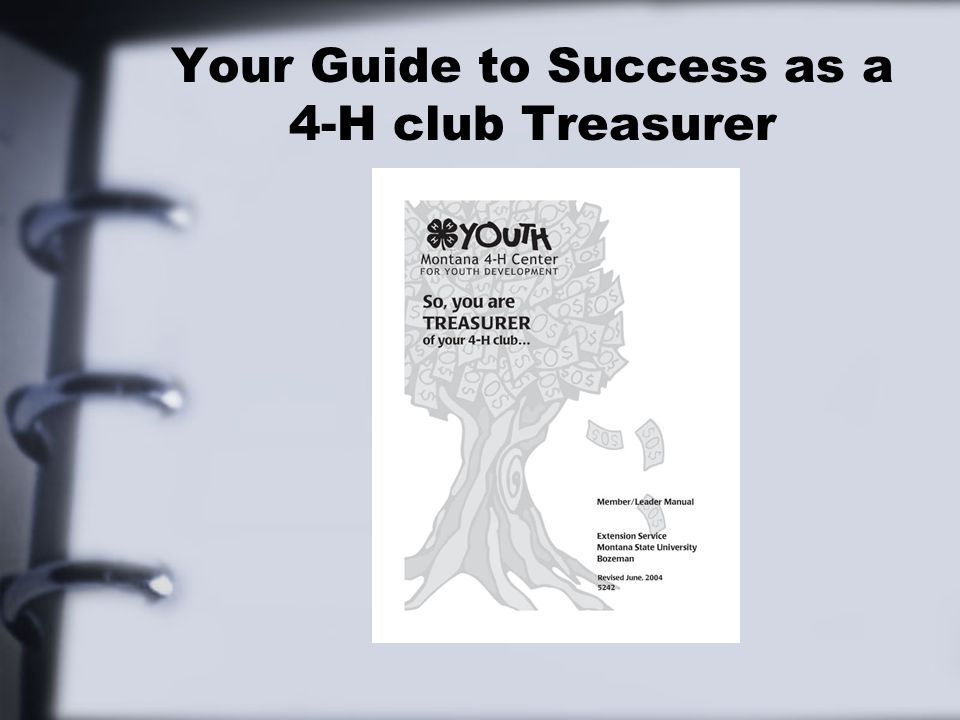 Your Guide to Success as a 4-H club Treasurer