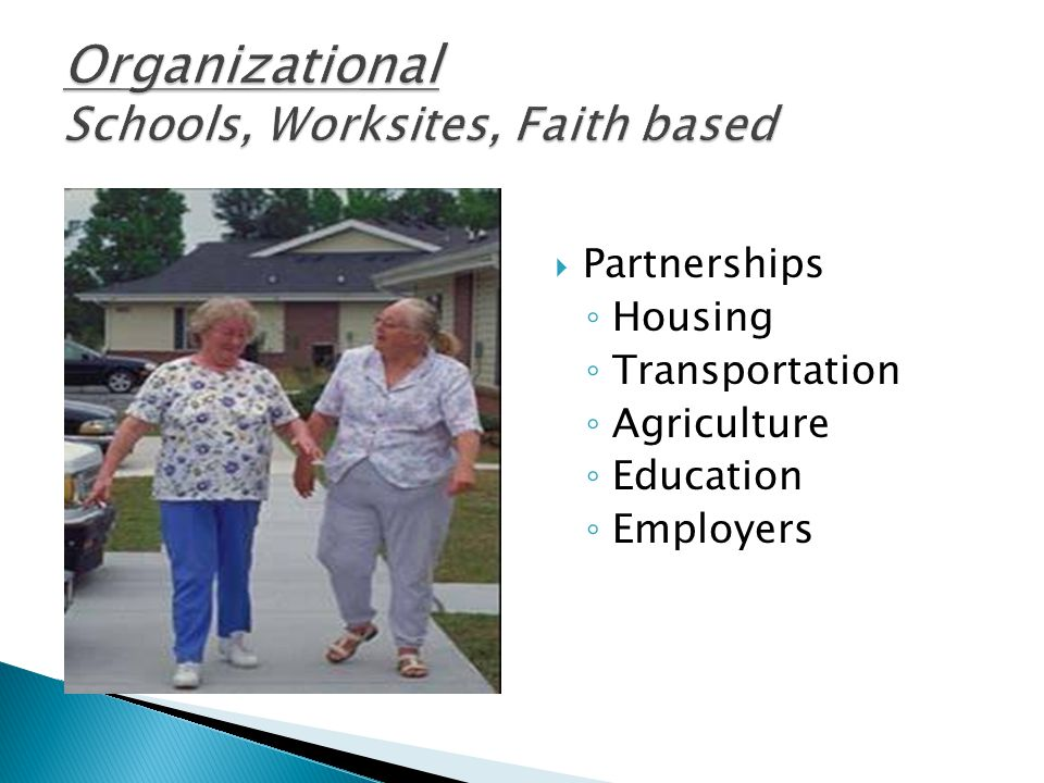  Partnerships ◦ Housing ◦ Transportation ◦ Agriculture ◦ Education ◦ Employers