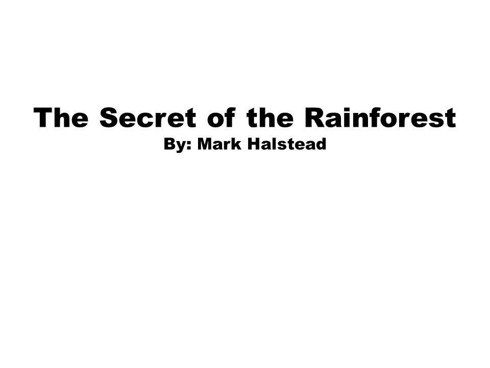 The Secret of the Rainforest By: Mark Halstead