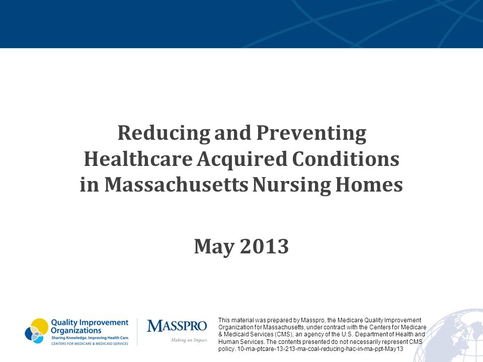 reducing and preventing healthcare acquired conditions in