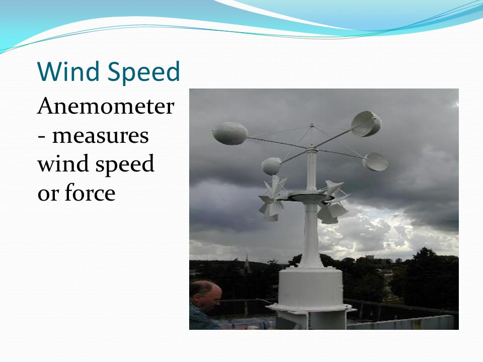 Wind Speed Anemometer - measures wind speed or force