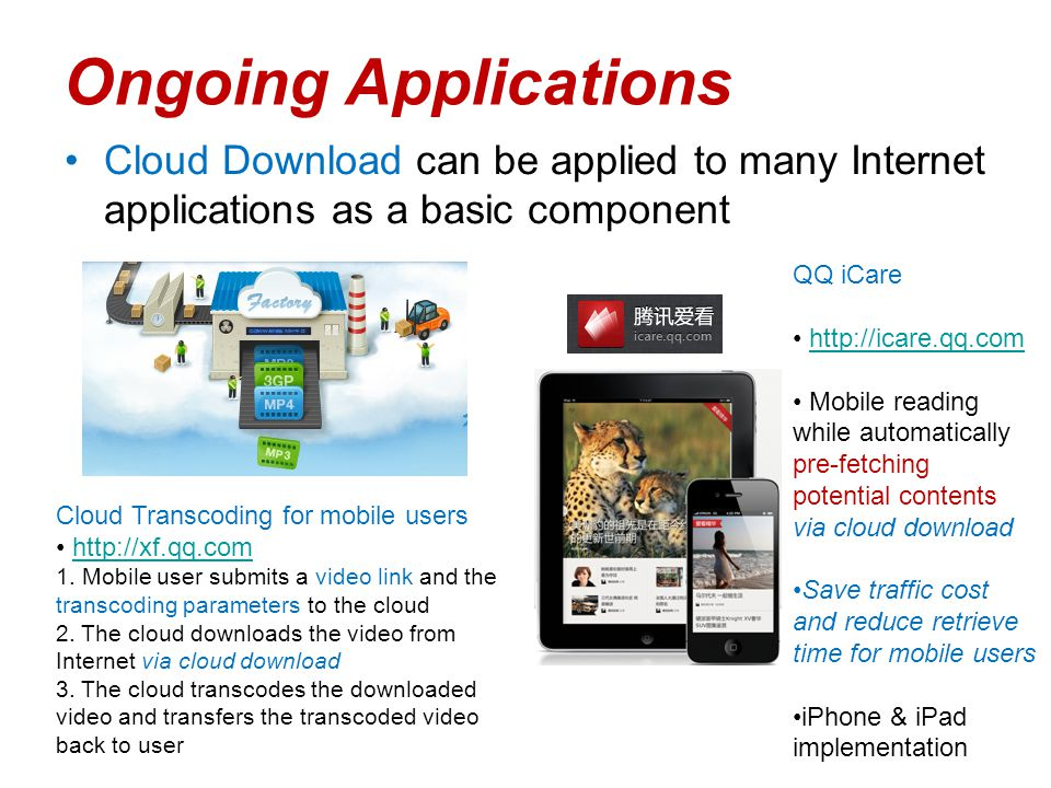 Cloud Download : Using Cloud Utilities to Achieve High-quality