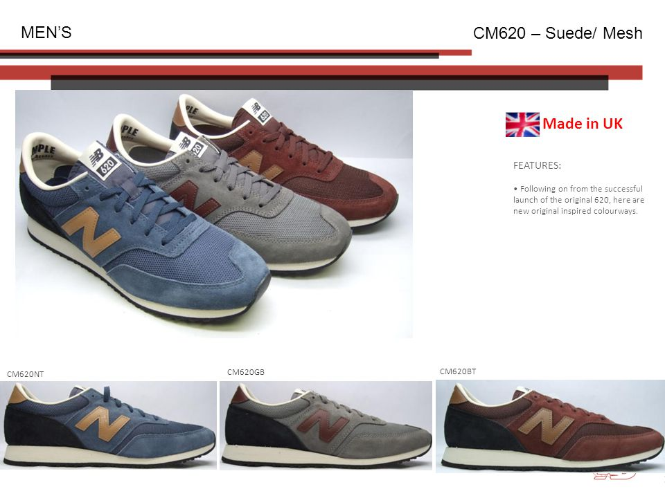 FEATURES: Following on from the successful launch of the original 620, here are new original inspired colourways.