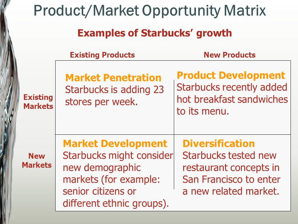 market penetration example starbucks