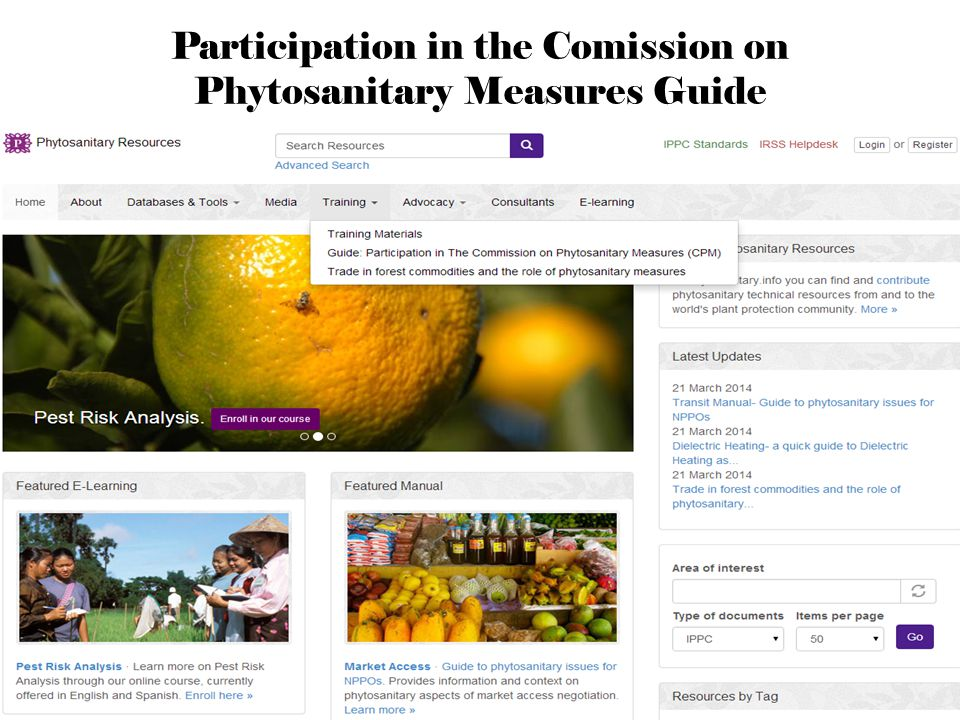 Promoting Competitive and Sustainable Agriculture in the Americas Participation in the Comission on Phytosanitary Measures Guide