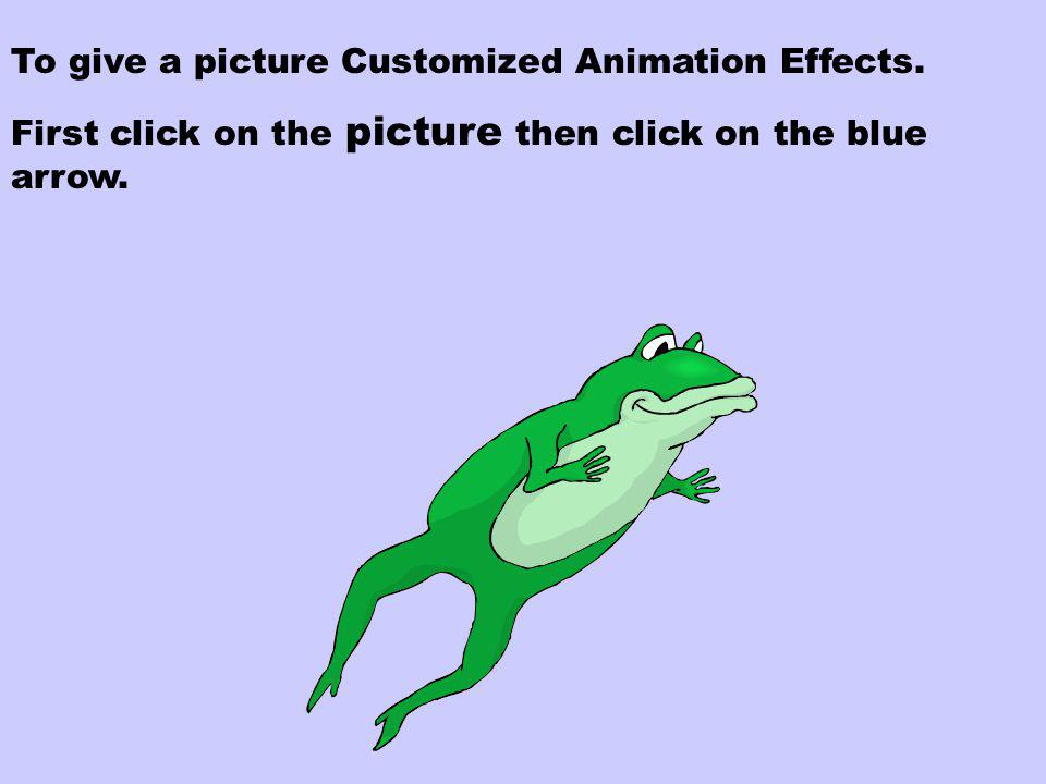 Step Six Animation Effects