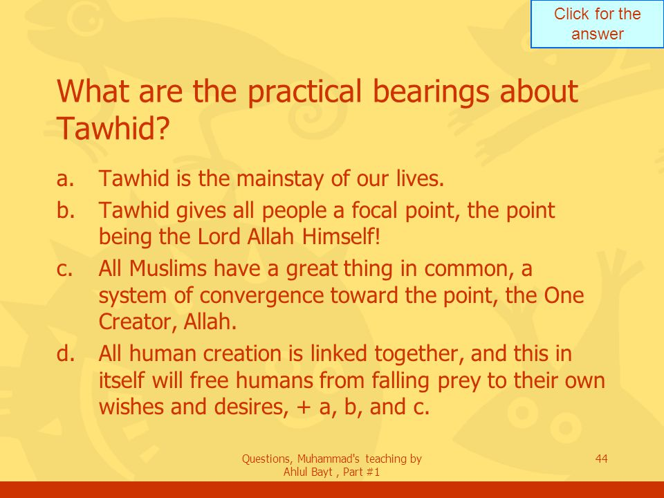Click For The Answer Questions Muhammad S Teaching By Ahlul Bayt Part 1