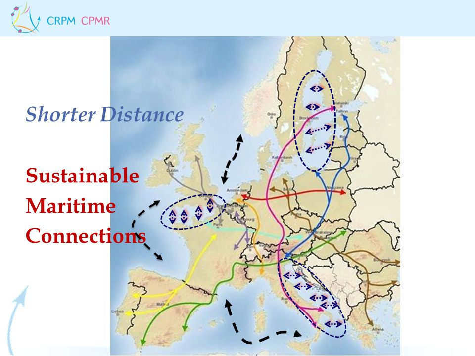 Shorter Distance Sustainable Maritime Connections
