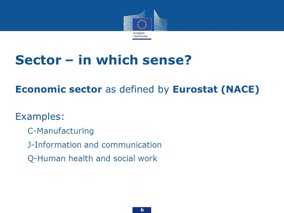 Sector – in which sense.