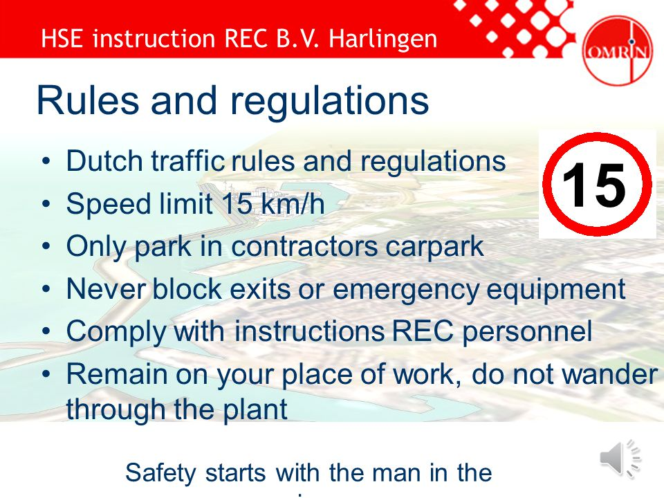 Hse Instruction Rec Bv Harlingen Safety Starts With The Man In The