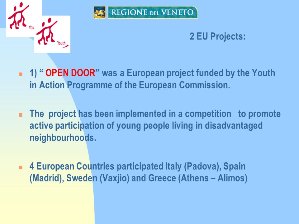 1) OPEN DOOR was a European project funded by the Youth in Action Programme of the European Commission.