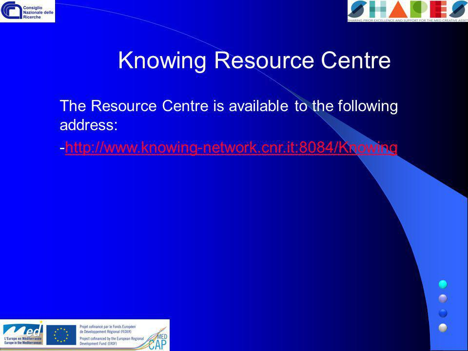 The Resource Centre is available to the following address: -  Knowing Resource Centre