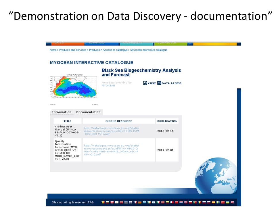 Demonstration on Data Discovery - documentation