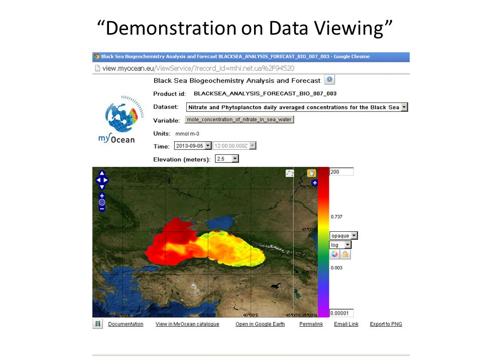 Demonstration on Data Viewing