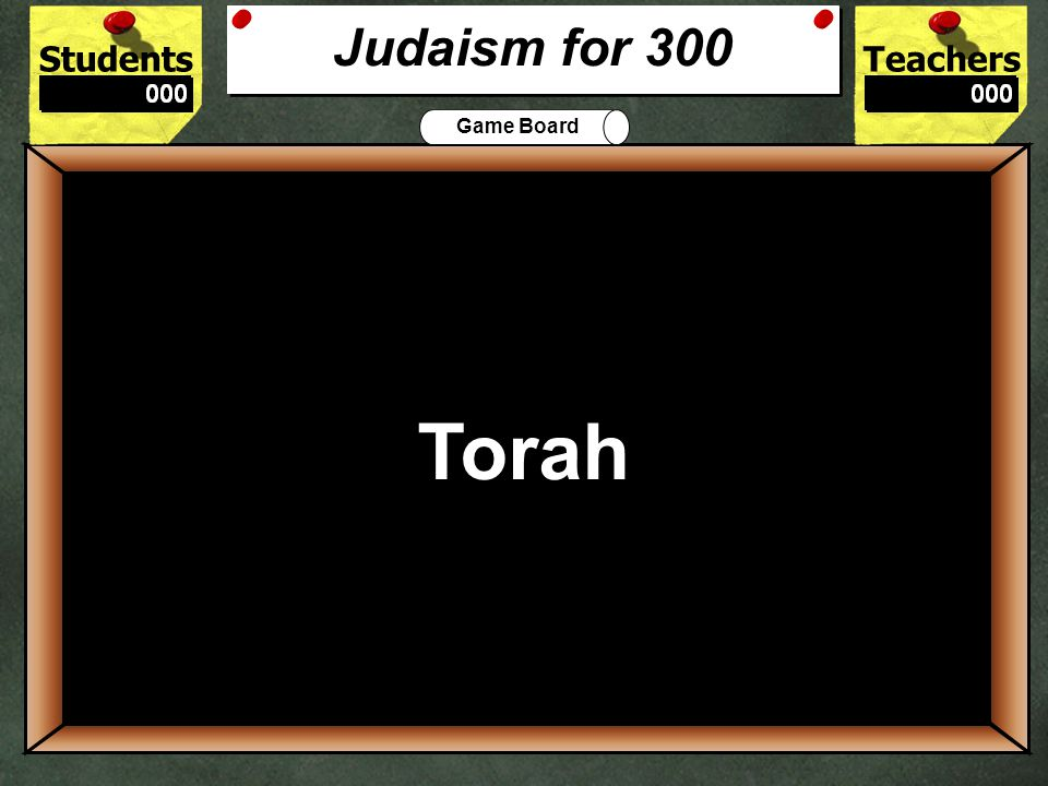 StudentsTeachers Game Board What Jewish holiday is celebrated by lighting candles on a menorah.