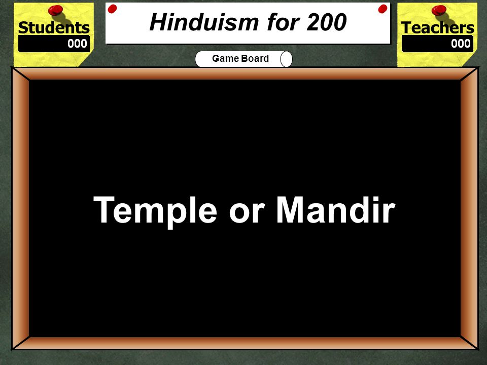 StudentsTeachers Game Board Is Hinduism polytheistic or monotheistic.