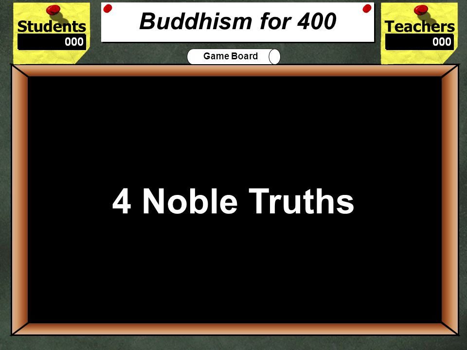 StudentsTeachers Game Board Buddhists believe that existence is a continuing cycle of death and rebirth called____________.