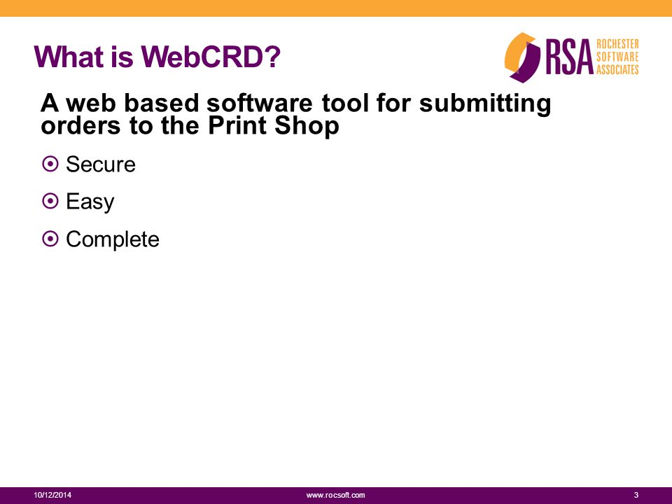 What is WebCRD.