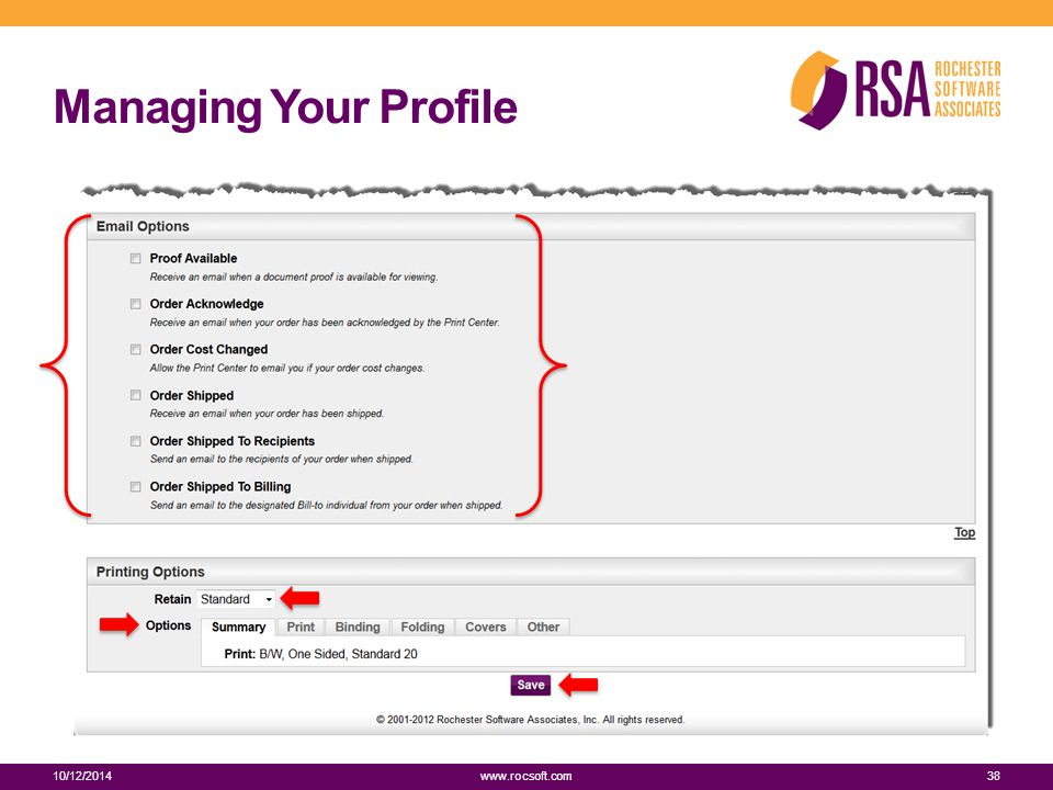 Managing Your Profile 10/12/