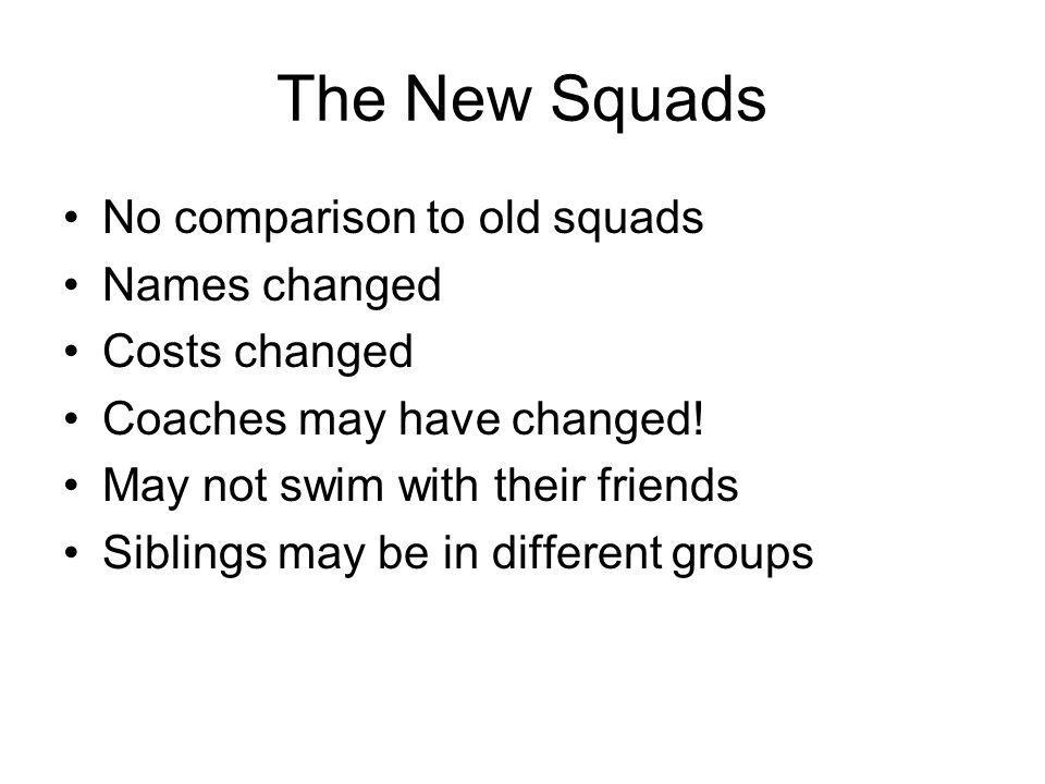 SQUAD RESTRUCTURE 2010 Presented by Nikki Merrill Head Coach  - ppt