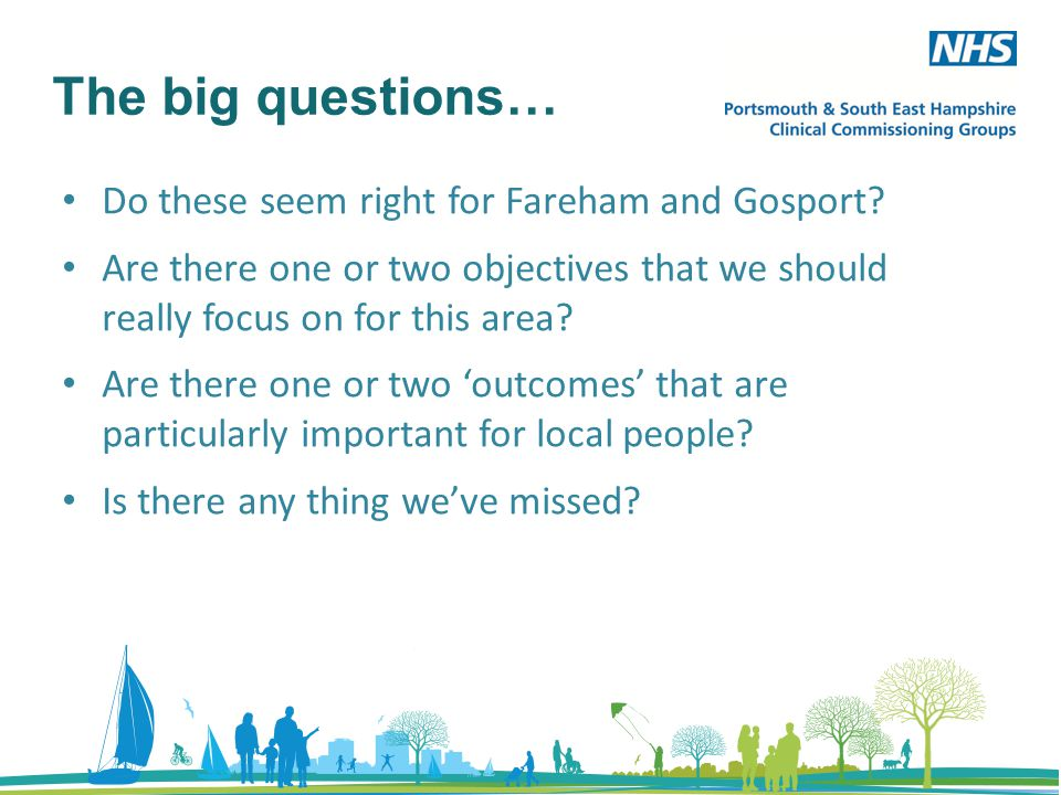 The big questions… Do these seem right for Fareham and Gosport.