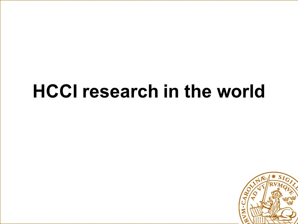 HCCI research in the world