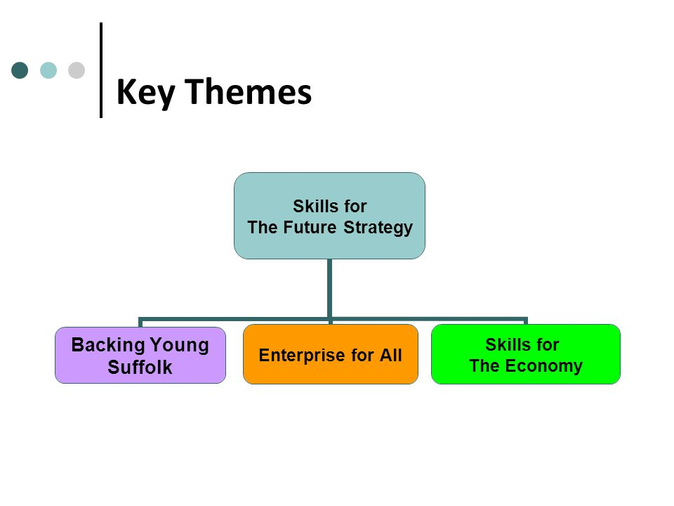 Key Themes Skills for The Future Strategy Backing Young Suffolk Enterprise for All Skills for The Economy