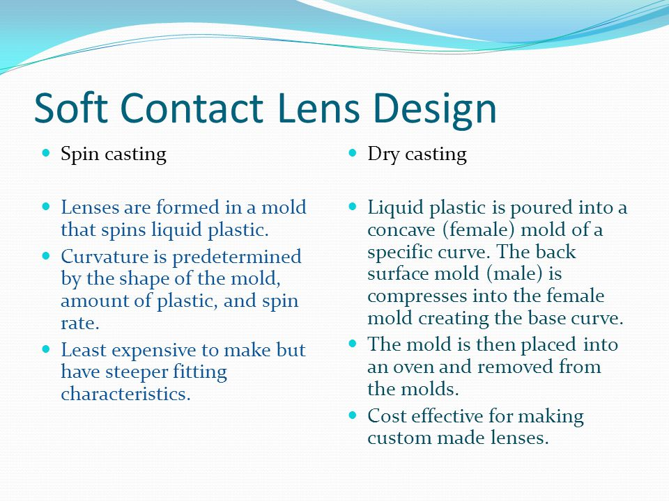 Week 3 Contact lens basics and care products  Soft Contact Lens