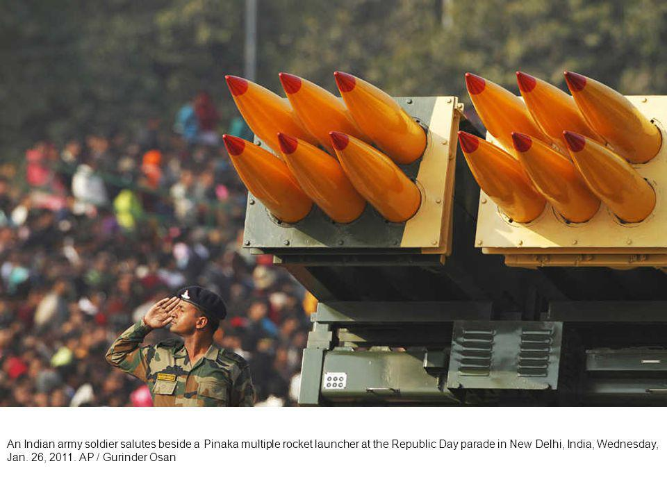 Indian soldiers march during the Republic Day parade in New Delhi, India, Wednesday, Jan.