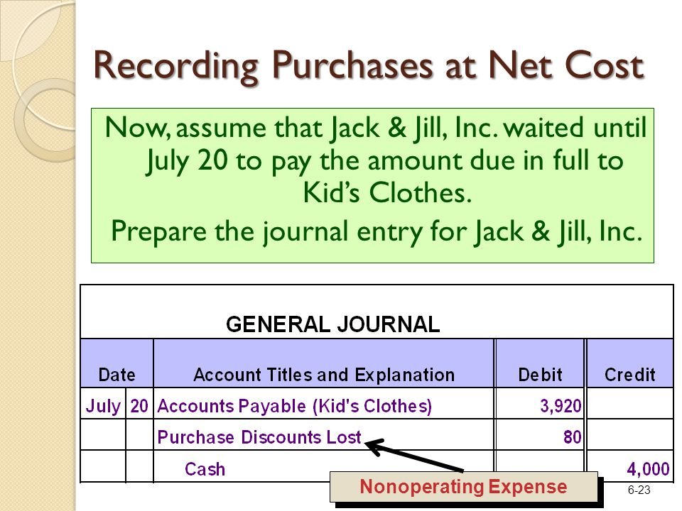 6-23 Now, assume that Jack & Jill, Inc.
