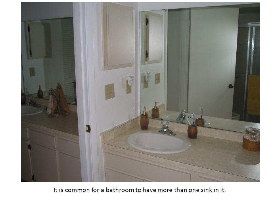 It is common for a bathroom to have more than one sink in it.