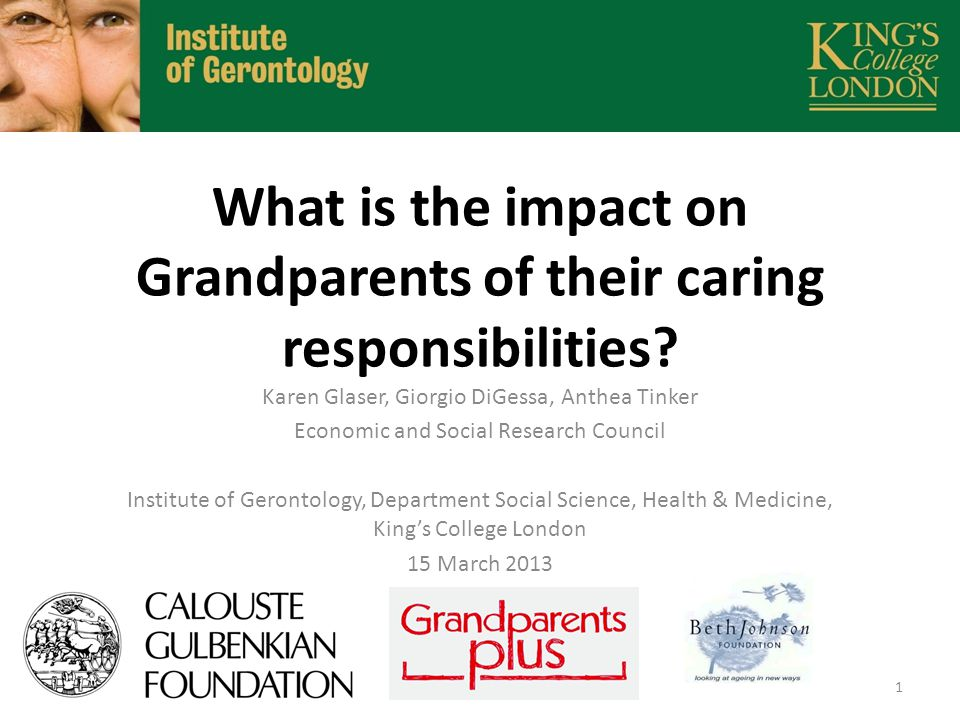 What is the impact on Grandparents of their caring responsibilities.