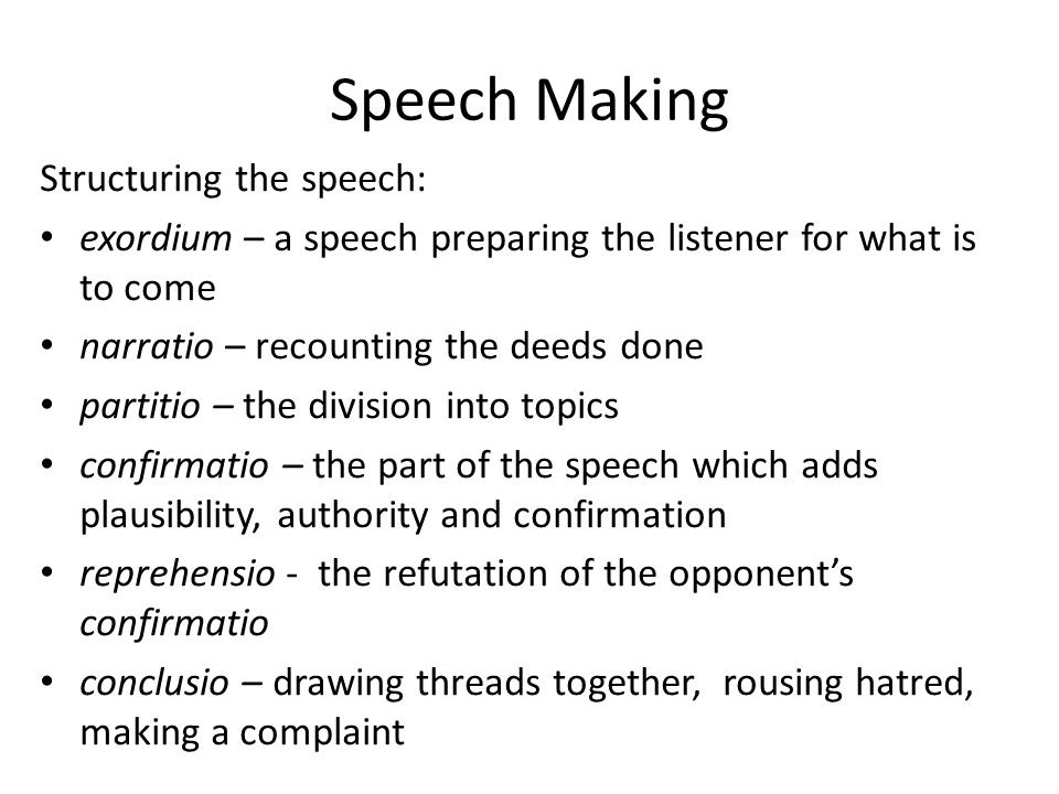 oratory topic ideas