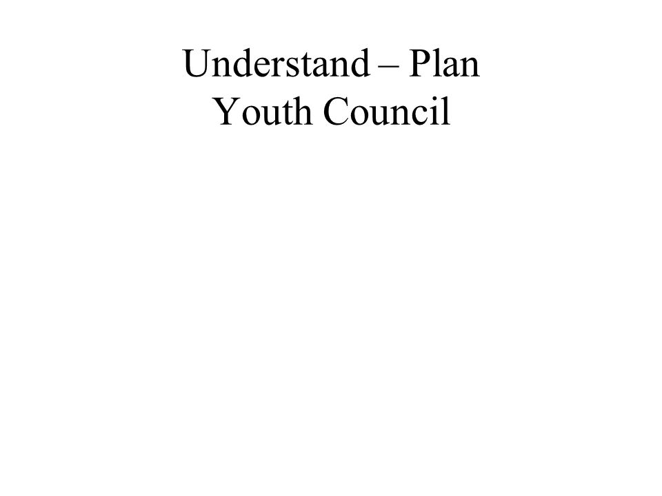 Understand – Plan Youth Council
