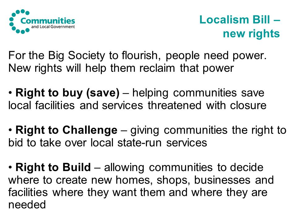 For the Big Society to flourish, people need power.