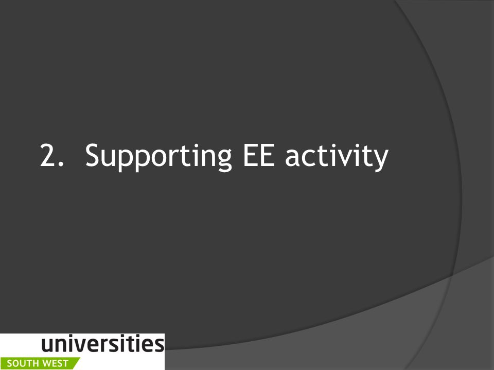 2.Supporting EE activity
