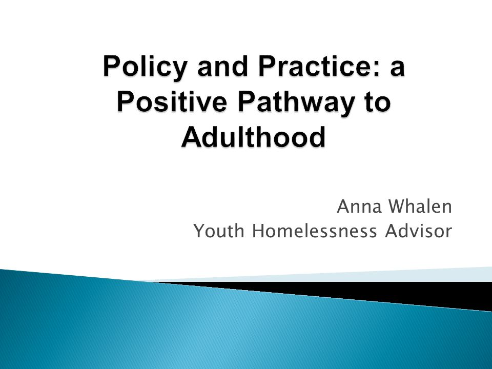 Anna Whalen Youth Homelessness Advisor