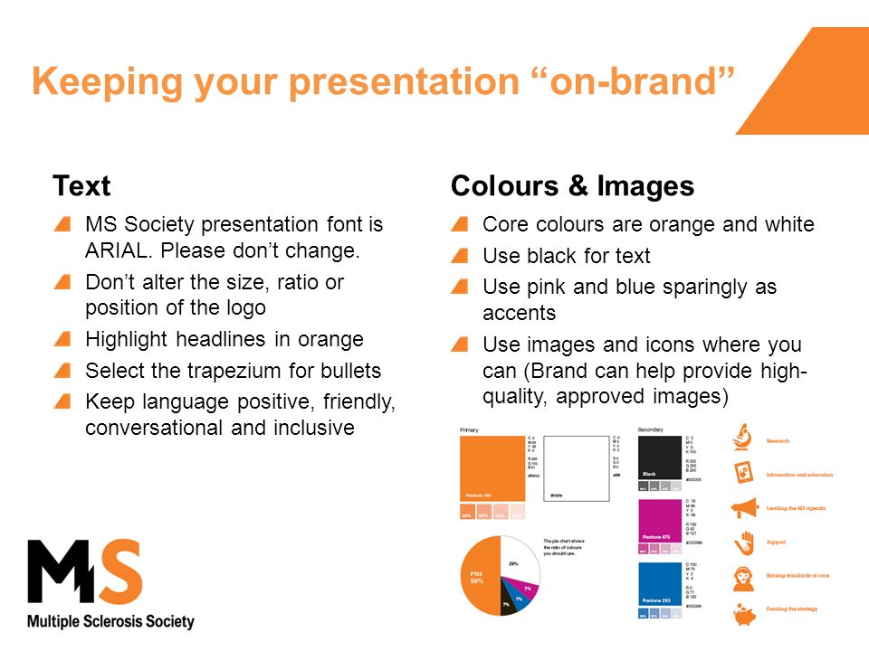 Brand powerpoint template for use from january ppt download keeping your presentation on brand text ms society presentation font is arial toneelgroepblik Images