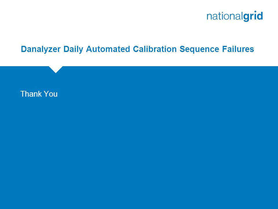 Danalyzer Daily Automated Calibration Sequence Failures Thank You